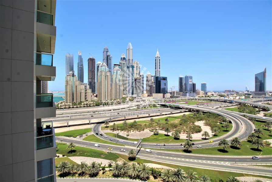 10 Upgraded 2BR + Maid's with Amazing View