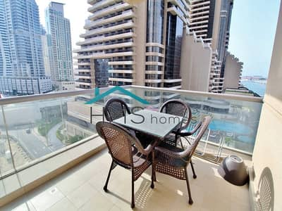 2 Bedroom Apartment for Rent in Dubai Marina, Dubai - Furnished | Spacious + Bright 2 BR | Large Balcony