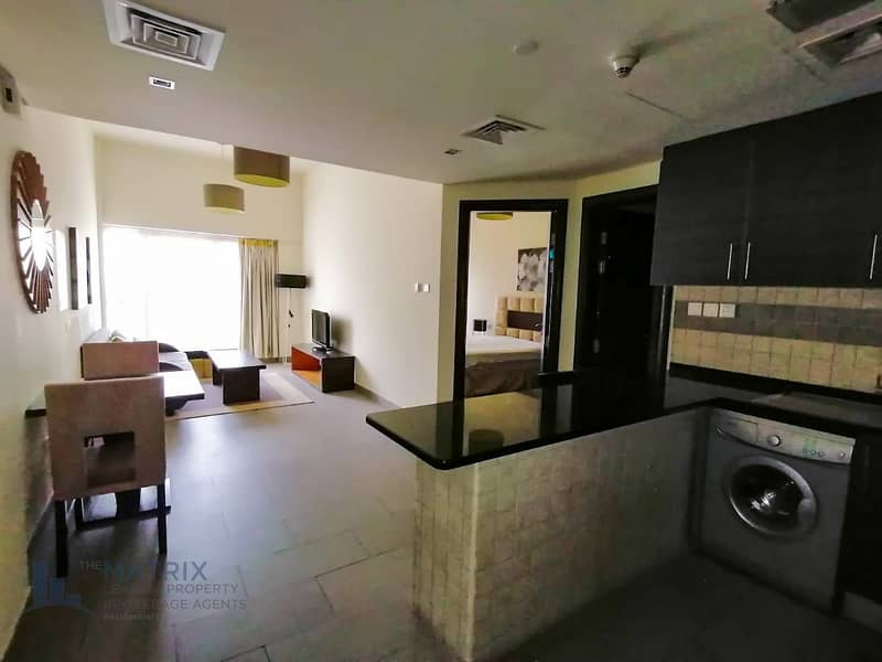 2 Furnished 1 BR  with balcony at the Bridge