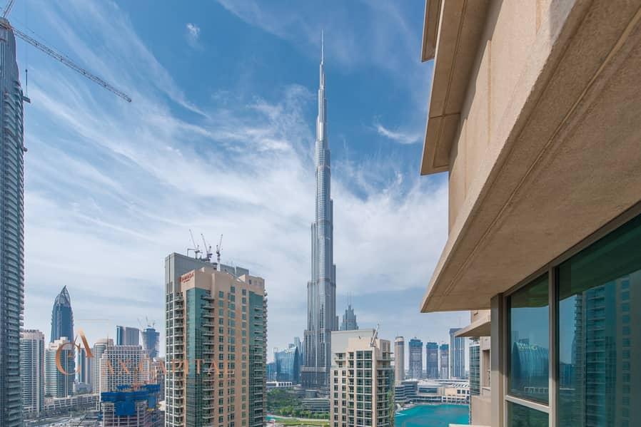Partial Fountain & Burj Khalifa View | Hot Deal