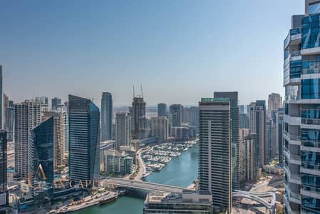 شقة 2 غرفة نوم للايجار في دبي مارينا، دبي - Semi-Furnished | Full Marina View | Spacious