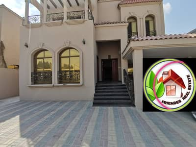 5 Bedroom Villa for Rent in Al Mowaihat, Ajman - A citizen electricity rental villa with air conditioners, stone front, with payment facilities