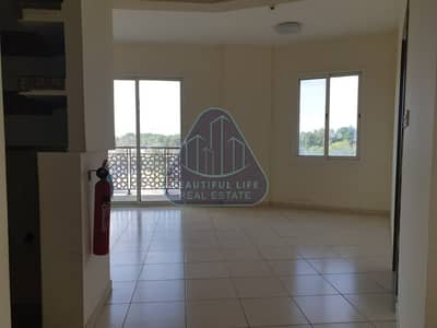 1BR Hall with Balcony  Open View   Near to Dragon Mart