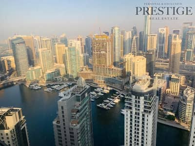 2 Bedroom Apartment for Rent in Jumeirah Beach Residence (JBR), Dubai - 2 Bedroom plus store high floor with marina view