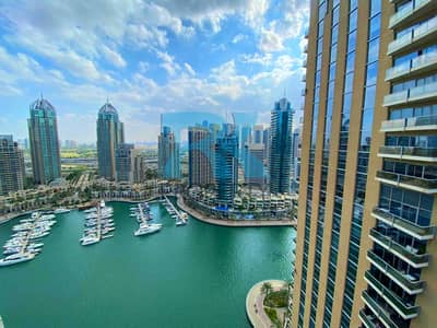2 Bedroom Flat for Rent in Dubai Marina, Dubai - Marina and Pool  View