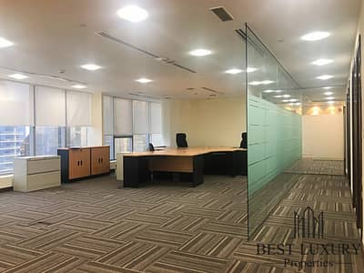 Office for Rent in Jumeirah Lake Towers (JLT), Dubai - Partitioned | High-floor | Visitor Parking