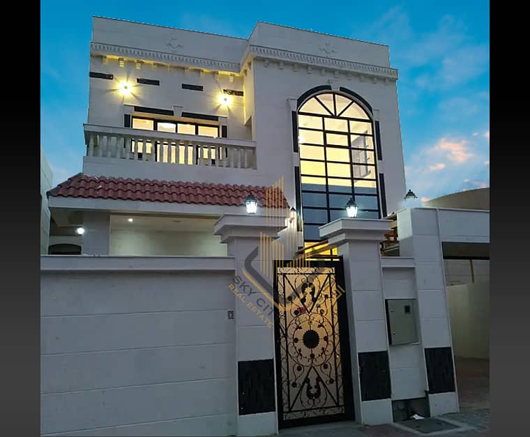 An elegant villa with luxurious finishing for sale, special location - opposite Ajman Academy