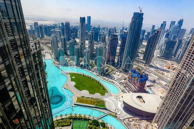 Burj Khalifa   High floor   Fountain views