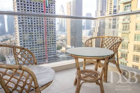 2 Bedroom Flat for Rent in Downtown Dubai, Dubai - Corner Unit | Chiller Free | Fully Furnished