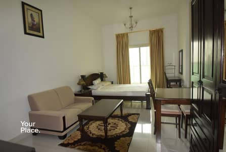 Studio for Rent in Dubai Sports City, Dubai - Furnished With Balcony - 12 Cheques