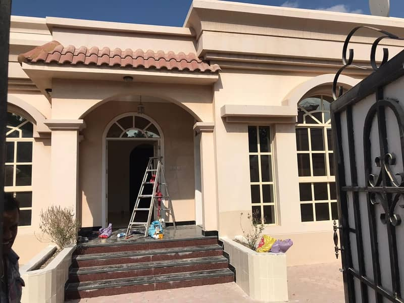 Villa for rent in Ajman Al Rawda 4 rooms and a large monster hall with full maintenance and full air conditioners 0562417250