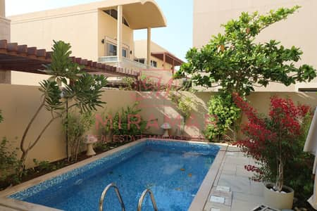 5 Bedroom Villa for Rent in Al Raha Gardens, Abu Dhabi - ⚡HOT⚡ FULLY FURNISHED!!! FLEXIBLE PAYMENT!! LUXURY 5B VILLA WITH POOL!