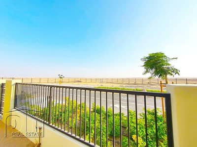 3 Bedroom Townhouse for Rent in Town Square, Dubai - Type 2   3 Bed   Single row Dessert view