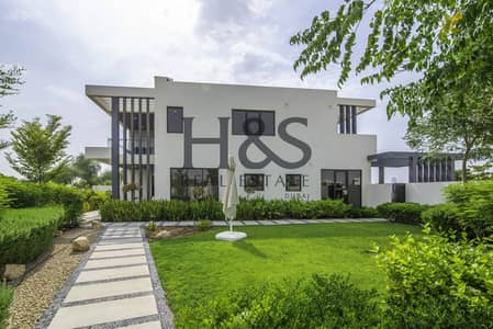 3 Bedroom Villa for Sale in DAMAC Hills (Akoya by DAMAC), Dubai - Beautiful Blue Lagoon Facing I Single Row Villa