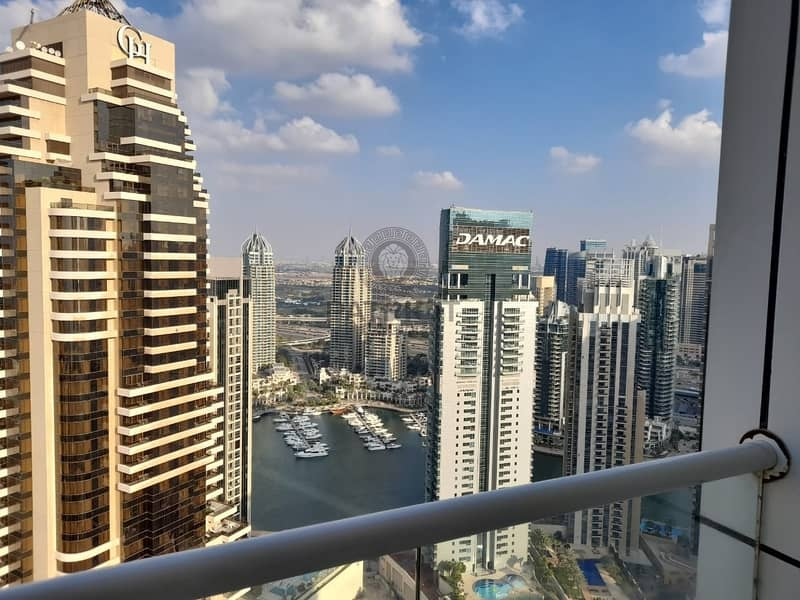 23 Full sea view / marina view / Palm  view unfurnished apartment for rent in Dubai Marina