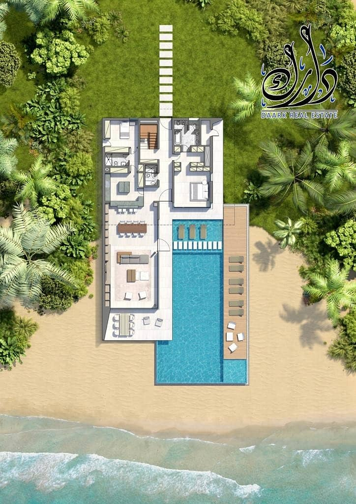 23 Luxurious Beach Villa With Private Beach | 5BR With Maid's |Last Unit.