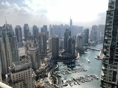 3 Bedroom Apartment for Rent in Dubai Marina, Dubai - Unfurnished 3BR + Laundry I Marina View