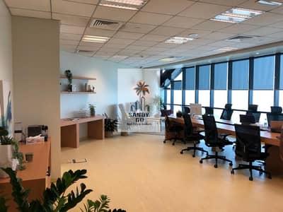 مکتب  للايجار في الخليج التجاري، دبي - Fitted Office | Open Layout | high Floor