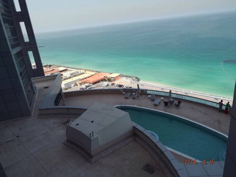 شقة في برج الكورنيش كورنيش عجمان 1 غرف 35000 درهم - 4889125