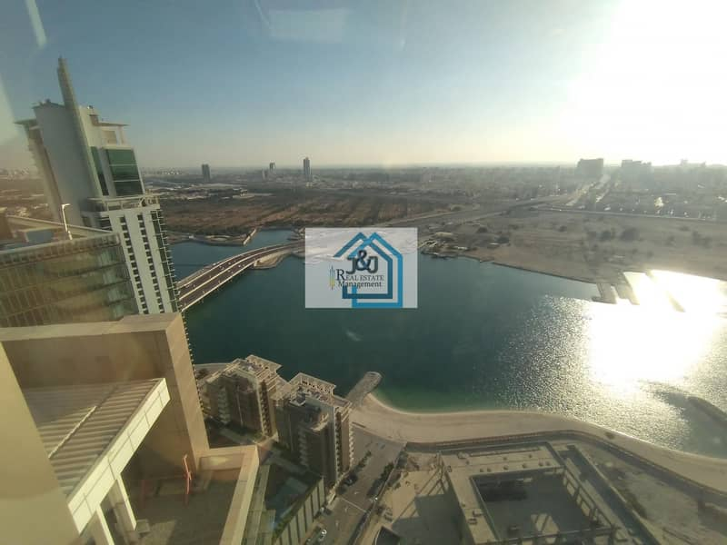 Exceedingly large lovely penthouse along with mesmerizing view around.