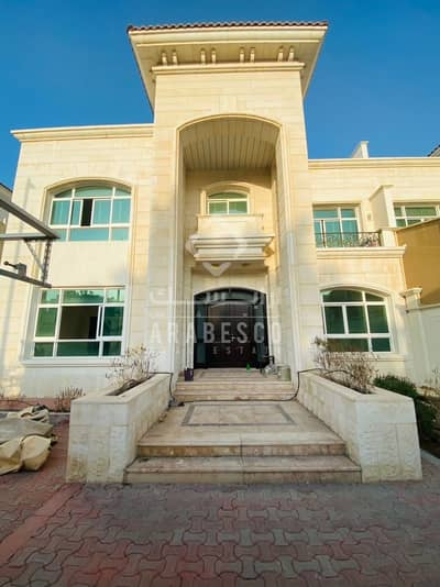 فیلا 5 غرف نوم للايجار في آل نهيان، أبوظبي - LUXURIOUS STONE FINISH 5 BEDROOM VILLA WITH INDOOR SWIMMING POOL AND GYM ROOM FOR RENT IN AL NAHYAN