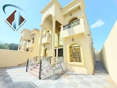 Villa for sale in Ajman, Al Mowaihat area, two floors, with a different design next to all services, with the possibility of bank financing