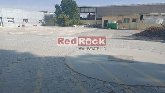 Warehouse for Rent in Al Quoz, Dubai - Independent Open Land with 12000 Sqf Warehouse in Al Quoz