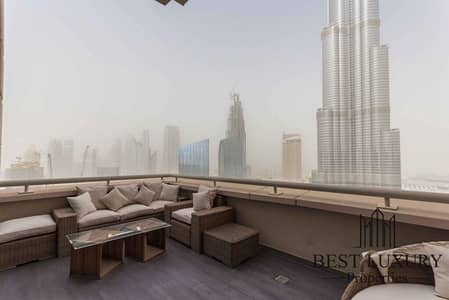 2 Bedroom Penthouse for Sale in Downtown Dubai, Dubai - Burj view penthouse with study room
