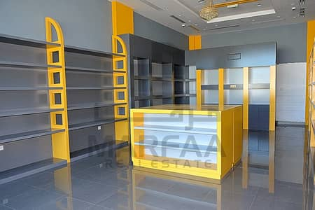 Shop for Rent in Al Nasserya, Sharjah - FULLY Decorated shop for rent -NO COMMISSION - FREE PARKING