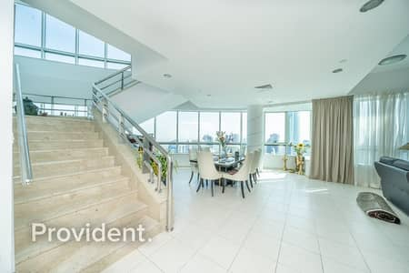 4 Bedroom Penthouse for Rent in Dubai Marina, Dubai - Penthouse Duplex | Heart of Marina | Open Views