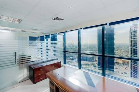 مکتب  للايجار في أبراج بحيرات الجميرا، دبي - Furnished Office   Partitioned   Close to Metro   DMCC