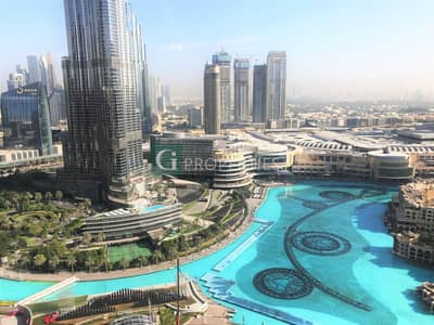 3 Bedroom Apartment for Rent in Downtown Dubai, Dubai - Fountain View | Maid Room | Hight Floor