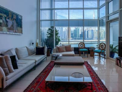شقة 3 غرف نوم للبيع في الخليج التجاري، دبي - Burj Khalifa View | Duplex | Prime Location