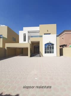 Villa for sale in Ajman, Al Mowaihat area, two floors, modern design, various finishes, with the possibility of bank financing