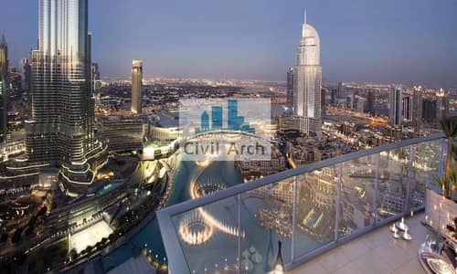 4 Bedroom Penthouse for Sale in Downtown Dubai, Dubai - MASTERPIECE 4BR+3 YEARS PAY+2 YR SC FREE+2%DLD