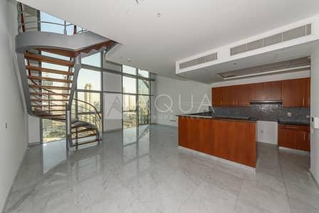 فلیٹ 2 غرفة نوم للايجار في مركز دبي المالي العالمي، دبي - Unfurnished | Mid Floor | Sea & S.Z.Road View