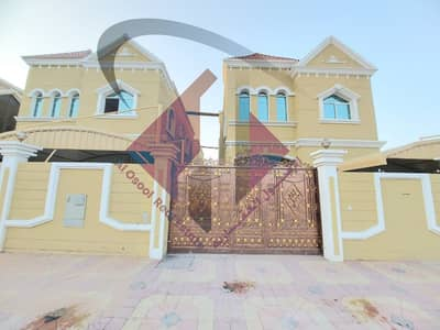 5 Bedroom Villa for Sale in Al Mowaihat, Ajman - Villa for sale in Ajman, Al Mowaihat area, two floors, designing various finishes, with the possibility of bank financing