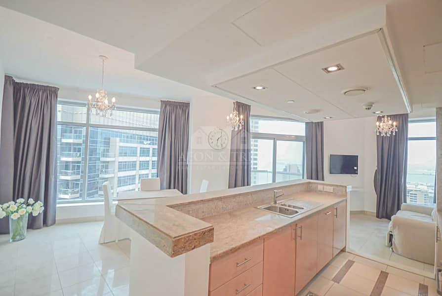 2 Nice 1 bed with Balcony | High floor | Marina view