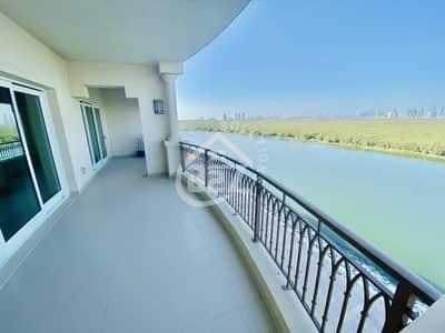 شقة 3 غرف نوم للايجار في الطريق الشرقي، أبوظبي - Mangrove View 3 BR with Maid Room