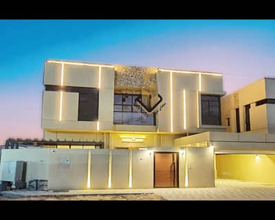 5 Bedroom Villa for Sale in Al Mowaihat, Ajman - Central air conditioners Less than a minute on Sheikh Mohammed Bin Zayed Road Close to City Life Hill City University College