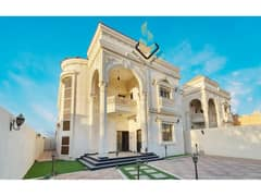 A luxurious villa with a luxurious stone facade, the finest designs and the finest decorations