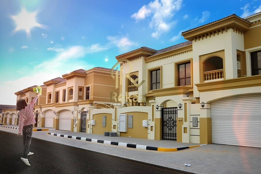 32 Own a ready to move villa in the Hoshi area, in installments over five years