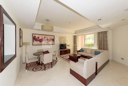 1 Bedroom Apartment for Rent in Palm Jumeirah, Dubai - Furnished | Maid's room | Ground Floor