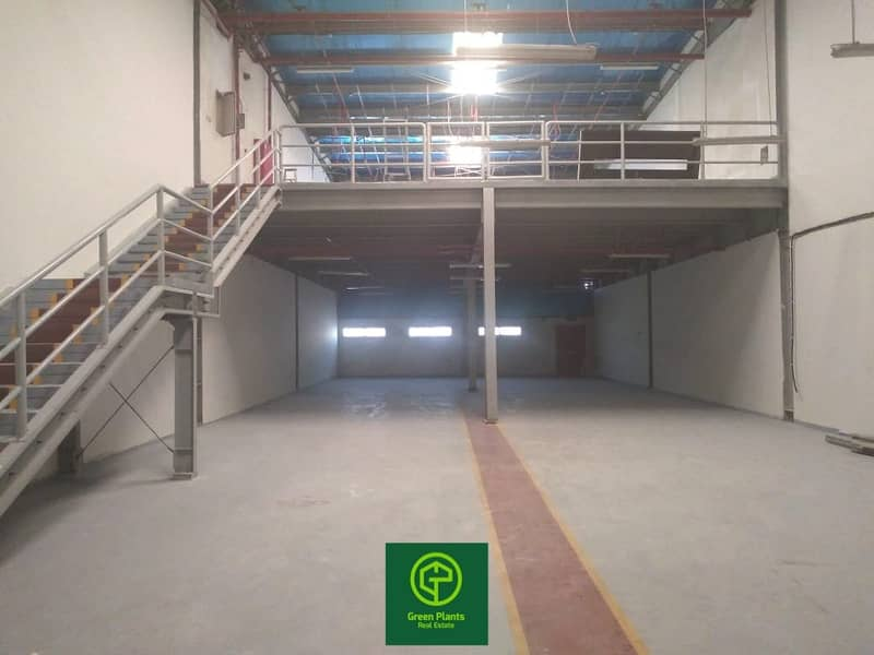Al Qusais Industrial Area 5,300 sq. Ft warehouse with 35 KW power with built in toilet and pantry