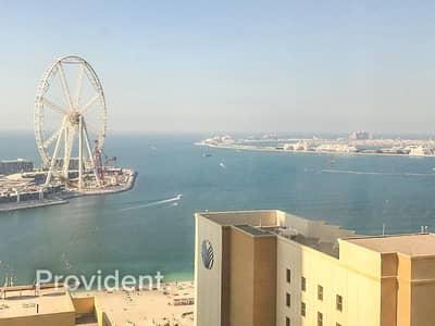فلیٹ 2 غرفة نوم للبيع في جميرا بيتش ريزيدنس، دبي - Sea View | High Floor | Balcony