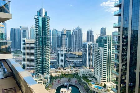 2 Bedroom Flat for Rent in Dubai Marina, Dubai - 2BR Corner Unit with Marina and Seaview