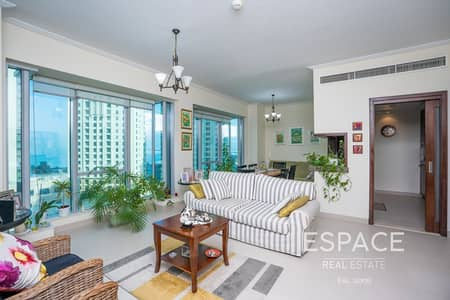 1 Bedroom Apartment for Sale in Dubai Marina, Dubai - Partial Sea View |958 Sqft |Mid-Floor 1BR