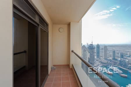 2 Bedroom Apartment for Rent in Jumeirah Beach Residence (JBR), Dubai - Marina Views - Unfurnished - Great Location