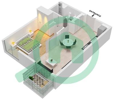 المخططات الطابقية لتصميم الوحدة 2,4,6,10 شقة 1 غرفة نوم - جولف فل