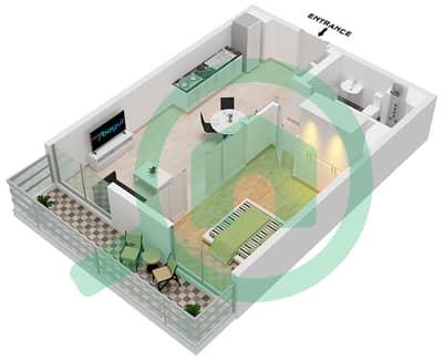 المخططات الطابقية لتصميم الوحدة 10 شقة 1 غرفة نوم - جولف فل